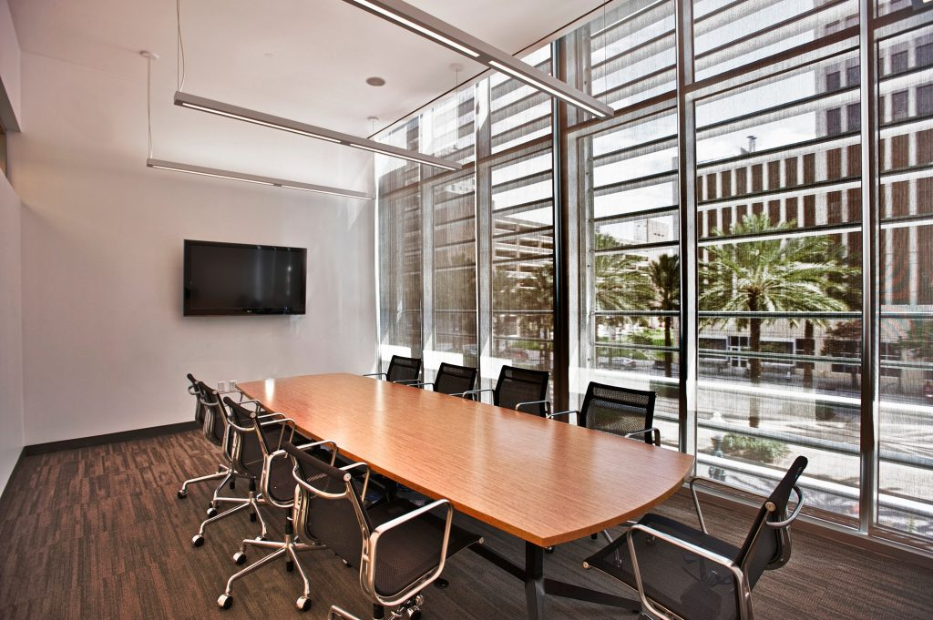 Conference rooms on floors 2, 3, and 4