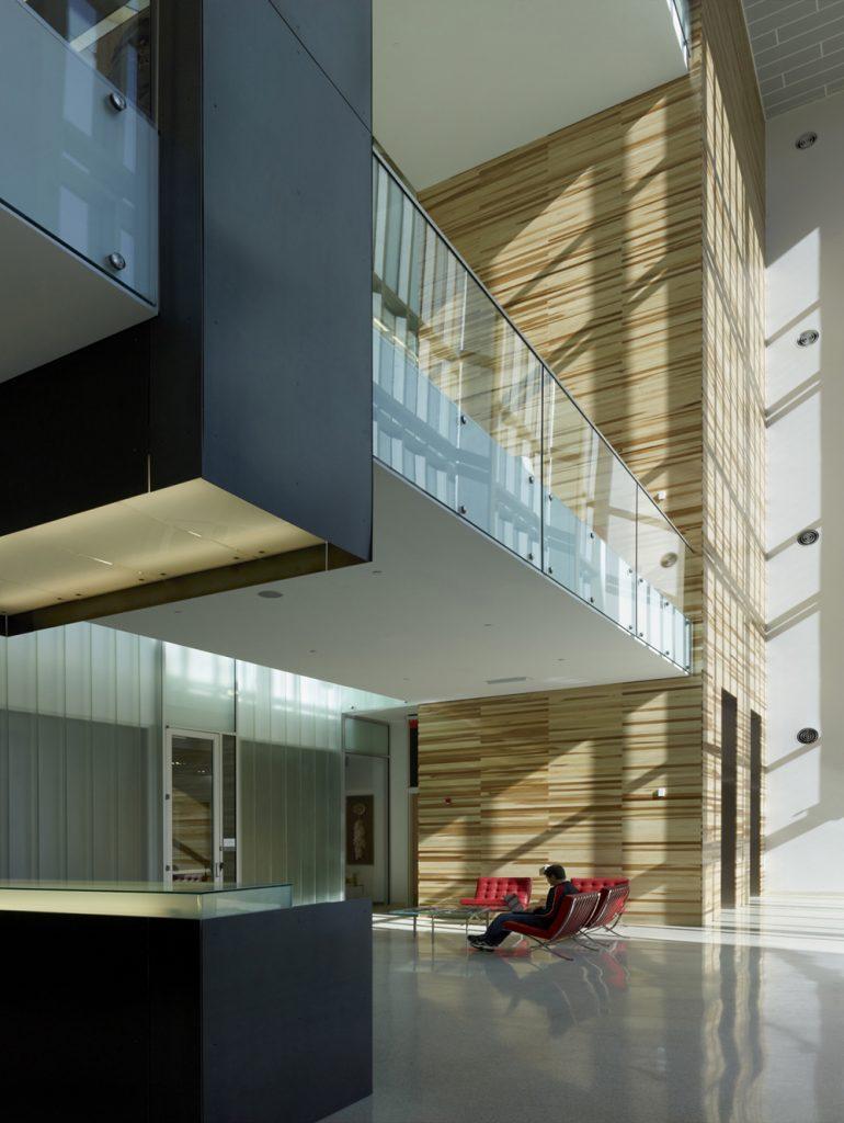 Atrium space and security desk